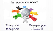 Hinweisschild Integration Point